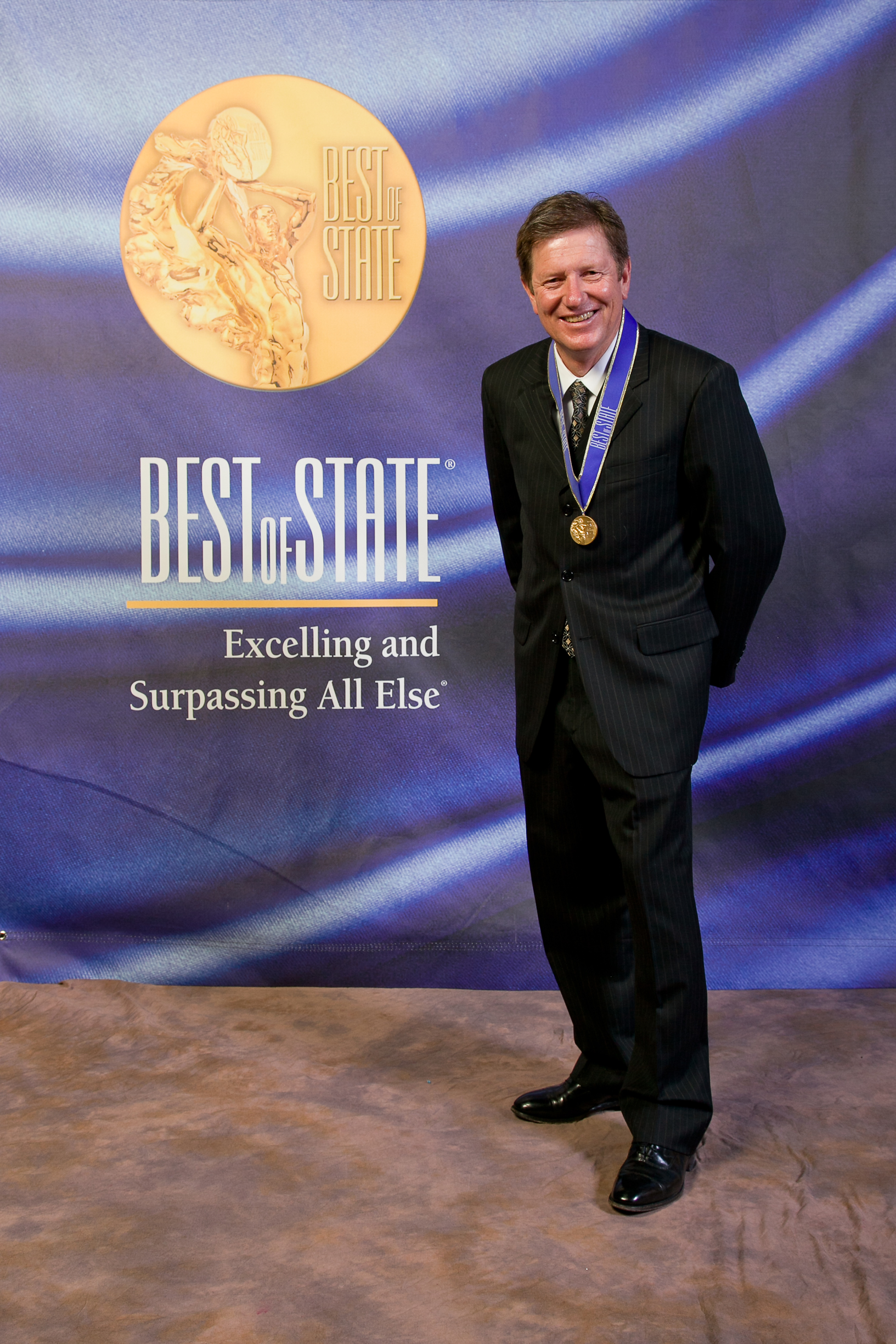 Brian Gottfredson, Managing Broker, Union Heights, accepting Best of State Award on behalf of Coldwell Banker Residential Brokerage
